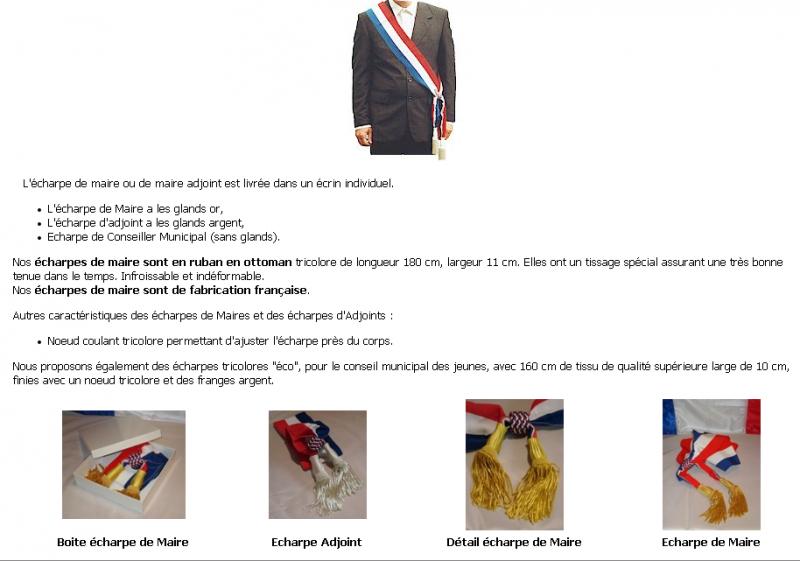 Elections. Echarpe de Maire et écharpes de Maire Adjoint buy in ... 82e42503e34