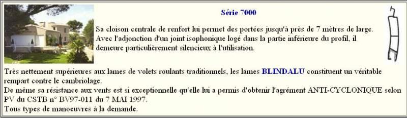 Acheter Rideaux Aluminium BLINDALU Série 7000
