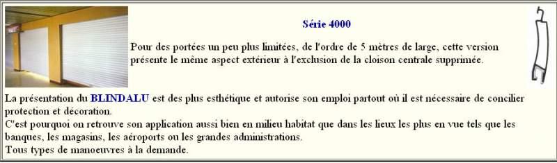 Rideaux Aluminium BLINDALU Série 4000