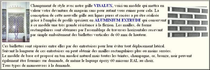 Grilles Visalux