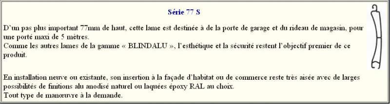 Rideaux Aluminium BLINDALU Série 77 S