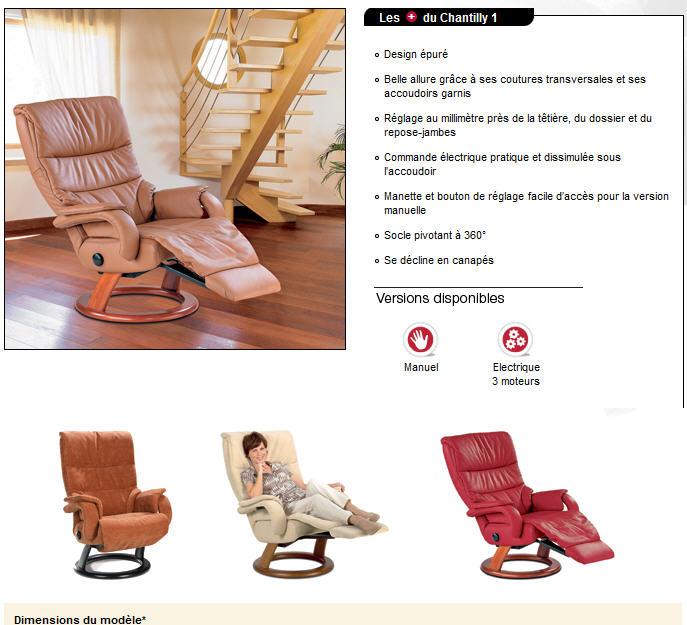 Fauteuils de relaxation > Ligne Contemporaine EVERline > CHANTILLY