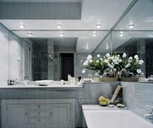 Moroir salle de bain gris