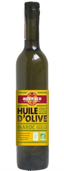 Huile d'olive Maroc bio 500ml DLUO:31/01/12 vierge extra (1ere pression à froid) Alter Eco