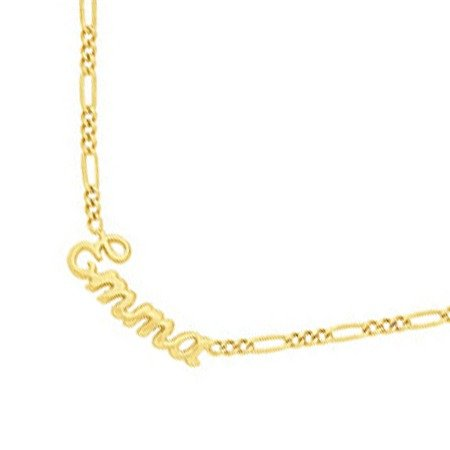 Collier prénom découpé plaqué or