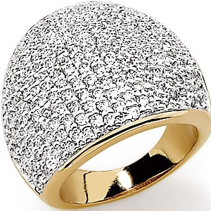Acheter Magnifique bague plaqué or avec oxydes de zirconium
