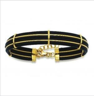 Bracelet or et caoutchouc