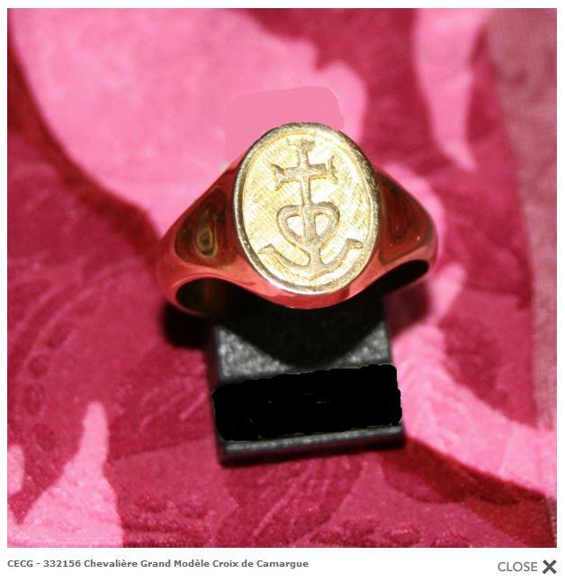 Chevalière Grand Modèle Croix de Camargue - CECG - 332156 buy in ... 382bbae3c82