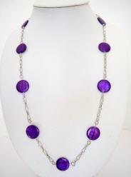 Acheter Sautoir nacre violet