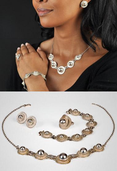 Acheter Parure argent grand modèle soleil Reine de Saba