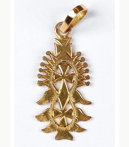 Croix copte en or de la région de Lalibela