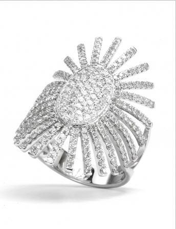 Acheter Bague Soleil Impérial Or Blanc et Diamants REF. BU01829DXG