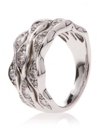 Bague Diamantine Or Blanc et Diamants REF. BMSCPODG