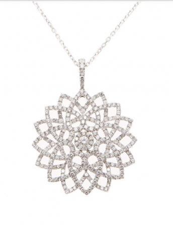 Pendentif 1001 Pétales Or Blanc et Diamants REF. PD3058DXG