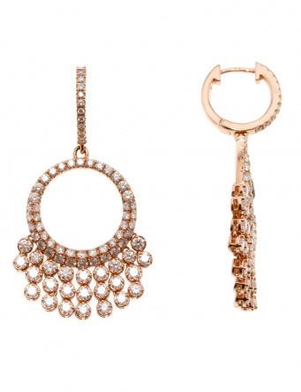Boucles d'oreilles Grapefruit Or Rose et Diamants REF. EU4958DXG