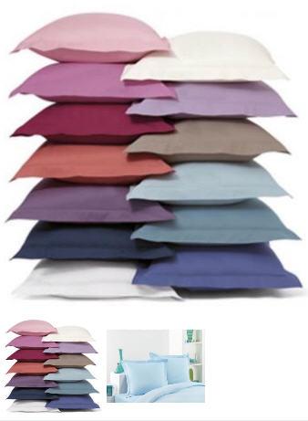 Acheter Taies d'oreillers coton (lot de 2) 63 x 63 cm Réf. : 989