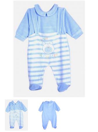 Pyjama bébé velours garçon 6 au 24 mois Réf. : 1065