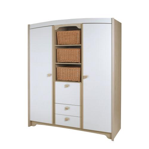 Armoire 2 portes 3 tiroirs - Thème P'tit Biscuit