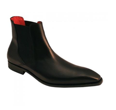 Chaussure bottine homme John Foster Pantoni - Cuir noir