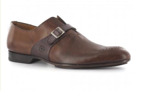 Vaneau - chaussures homme de luxe cuir marron patine