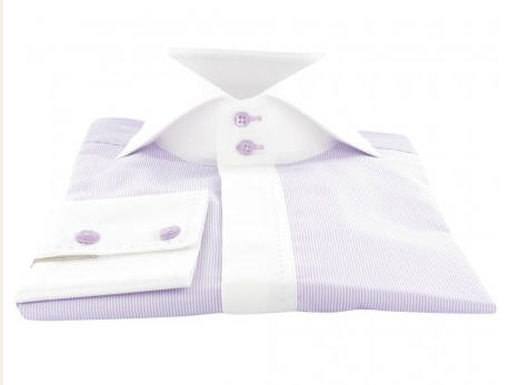 Chemise fashion homme en tissu de qualité satin de coton