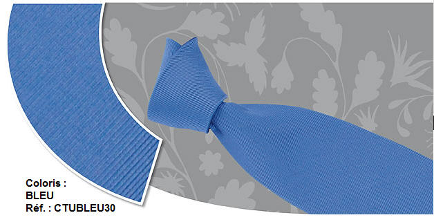 Cravates Trendy - Coloris : Bleu - Réf. : CTUBLEU30