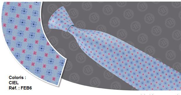 Cravates Fantasie - Coloris : Ciel - Réf. : FEB6