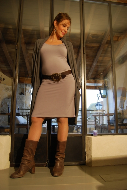 Robe Lilas Grise