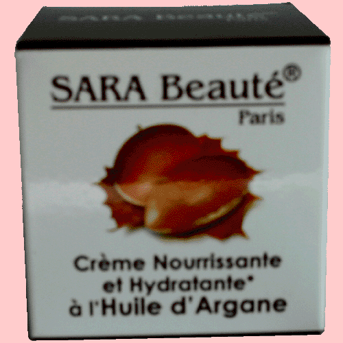 Crème nourrissante et hydratante  à  L'huile  D'argan  Sara