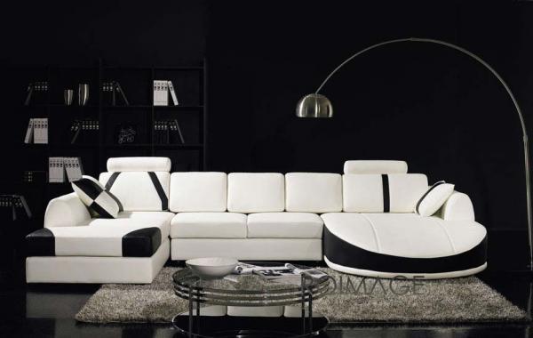Canapé d'angle contemporain Salon Cuir Newton