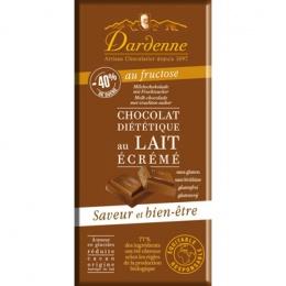 Tablette chocolat au lait au fructose - Référence : DAR002