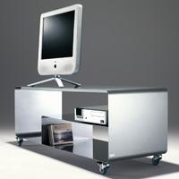 Acheter Meuble TV style industriel sur roulettes avec étagère, Muller
