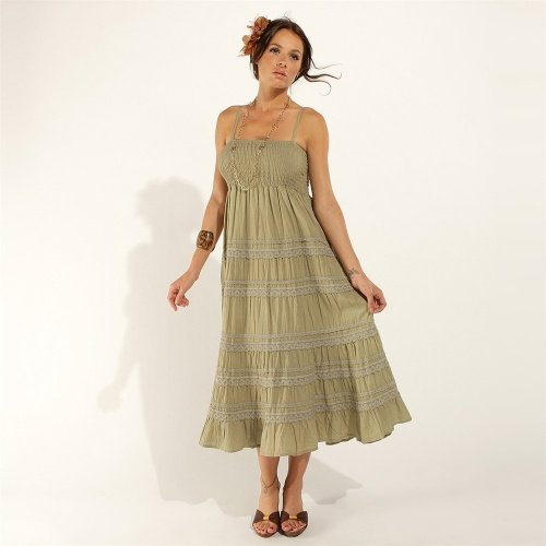 Robe femme kaki Carling