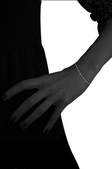 Bracelet Gold Number 9 or