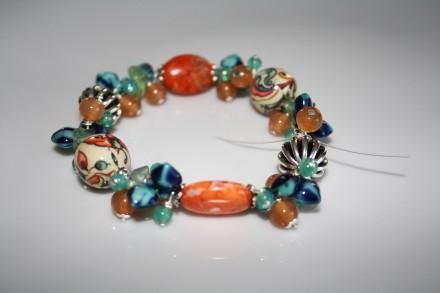Acheter Bracelet pastel bleu et pêche - ID de la création : 554194
