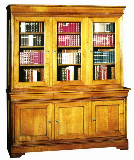 Bibliothèques en merisier
