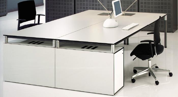 Mobilier de bureau design gamme square buy mobilier de for Meuble bureau haut de gamme