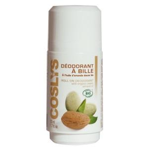 Acheter Déodorant bio à bille amande douce Coslys - 50ml Cosmetique bio - Référence : COS021