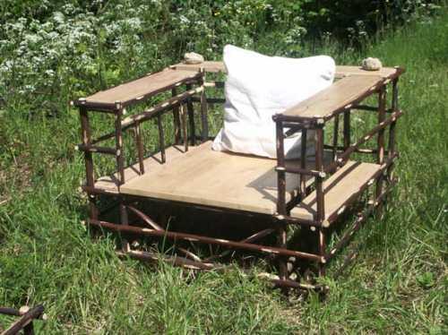 Fauteuils de salon de jardin ou pour la maison, écologique en bois ...
