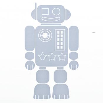 Adhésif décoratif petit robo bleu