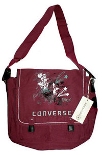 Sac Converse - Sac Besace Cabas Femme Bordeaux Dollymoon Starpurple
