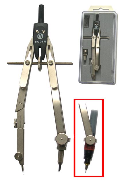 Compas balustre étrier à vis centrale micrométrique Boden
