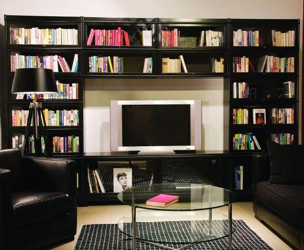 biblioth que classique combinaison meuble tv buy. Black Bedroom Furniture Sets. Home Design Ideas