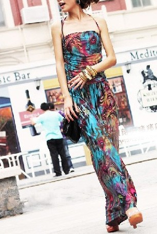 robe longue color viscose jp1137 - Robe Longue Colore