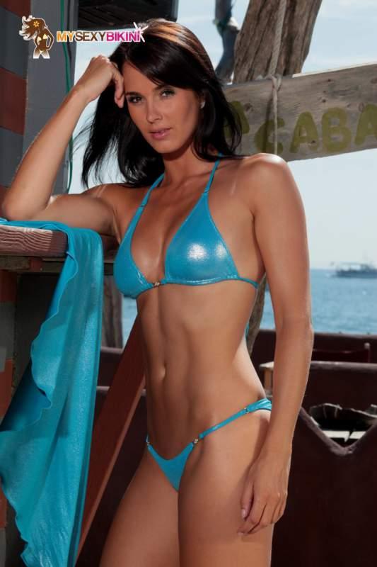 aefa47b01f Maillot de bain Bresil Bikini Brazil en lycra Brazil Blue Métallisé ...