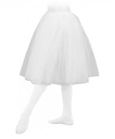 Jupon de danse tulle blanc