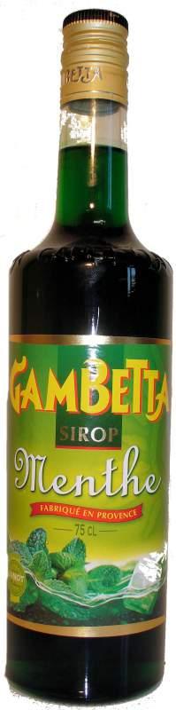 Acheter Sirop Gambetta menthe