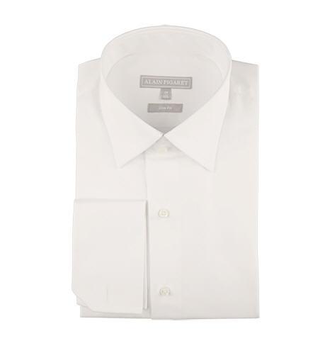 Chemise ajustée en popeline unie blanche