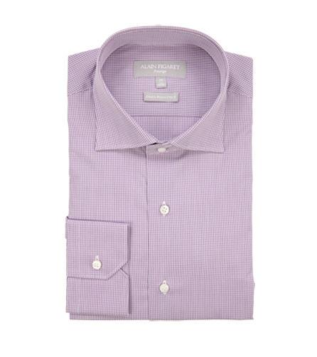 Chemise Prestige en popeline 170/2 carreaux violets