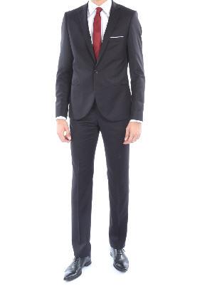 Costume Gansé cintré 100% laine Super 150s noir